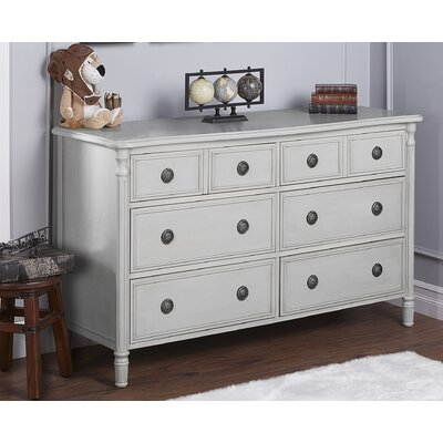 Julienne 6 Drawer Double Dresser Finish: French Linen