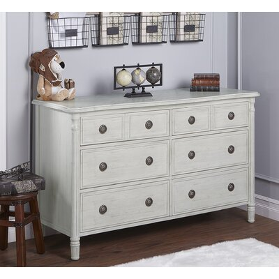 Julienne 6 Drawer Double Dresser Finish: Antique Mist Gray