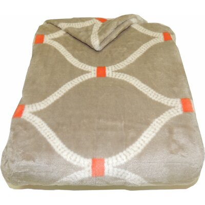 Link Velvet Plush Throw Blanket Color: Camel Orange