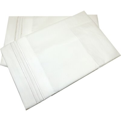 Lamothe Soft and Comfortable Pillow Case Size: King, Color: White