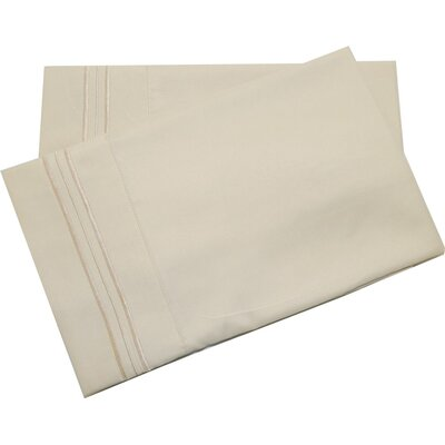 Oldbury Soft and Comfortable Pillow Case Color: Beige, Size: Standard
