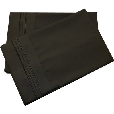 Oldbury Soft and Comfortable Pillow Case Color: Black, Size: Standard