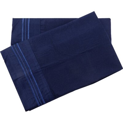Oldbury Soft and Comfortable Pillow Case Color: Blue, Size: Standard