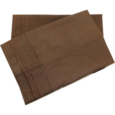 Oldbury Soft and Comfortable Pillow Case Color: Brown, Size: Standard