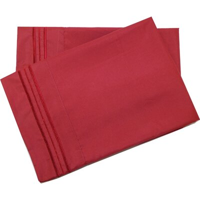 Oldbury Soft and Comfortable Pillow Case Color: Burgundy, Size: Standard