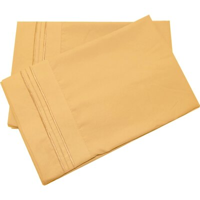 Oldbury Soft and Comfortable Pillow Case Color: Gold, Size: King