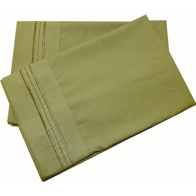 Lamothe Soft and Comfortable Pillow Case Size: Standard, Color: Green