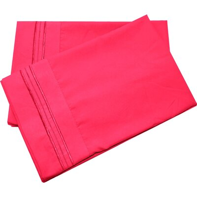 Oldbury Soft and Comfortable Pillow Case Color: Hot Pink, Size: Standard