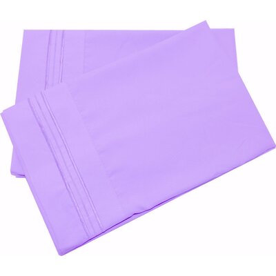 Oldbury Soft and Comfortable Pillow Case Color: Lilac, Size: King