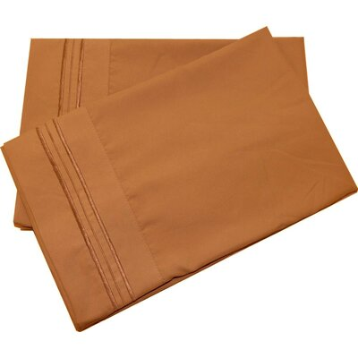 Oldbury Soft and Comfortable Pillow Case Color: Mocha, Size: Standard