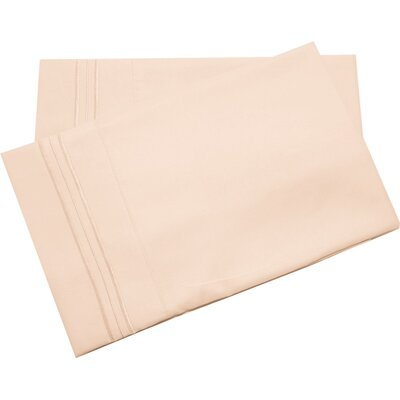 Lamothe Soft and Comfortable Pillow Case Size: King, Color: Peach
