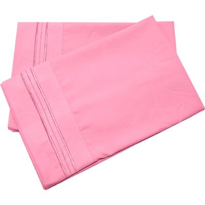 Oldbury Soft and Comfortable Pillow Case Color: Pink, Size: Standard