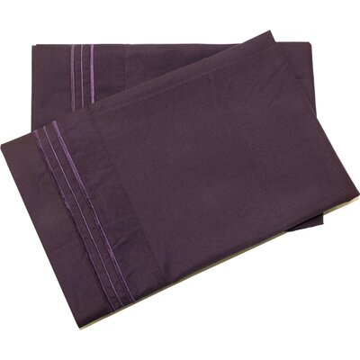 Oldbury Soft and Comfortable Pillow Case Color: Purple, Size: Standard