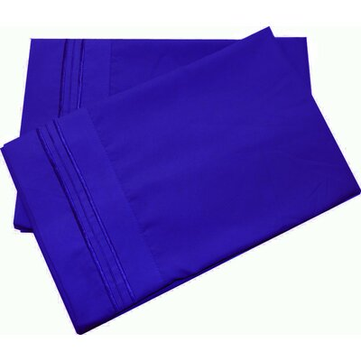 Oldbury Soft and Comfortable Pillow Case Color: Royal Blue, Size: Standard