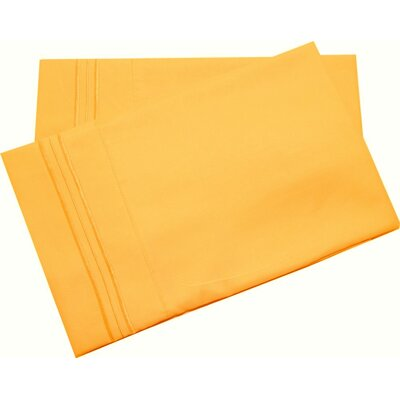 Lamothe Soft and Comfortable Pillow Case Size: King, Color: Yellow