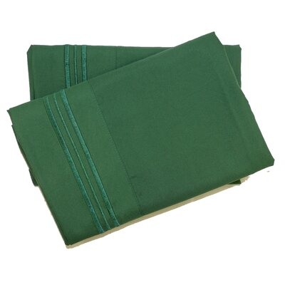 Oldbury Soft and Comfortable Pillow Case Color: Emerald Green, Size: King