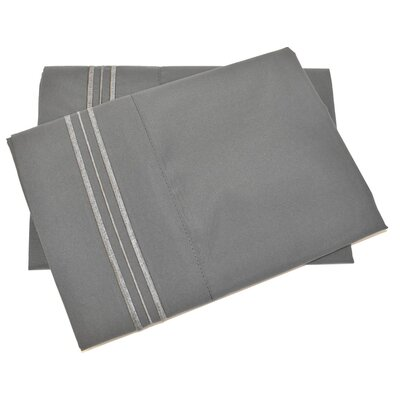 Oldbury Soft and Comfortable Pillow Case Color: Gray, Size: Standard