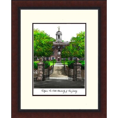NCAA Rutgers University, The State New Jersey University Legacy Alumnus Lithograph Framed Photographic Print
