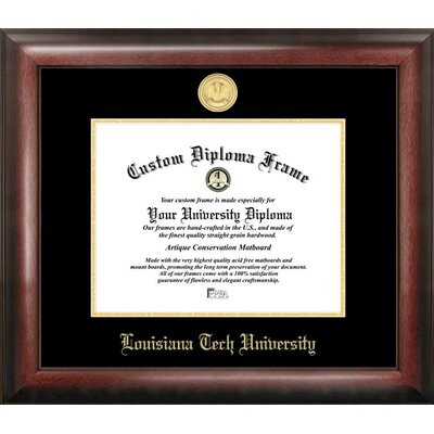 NCAA Louisiana Tech University Embossed Diploma Picture Frame