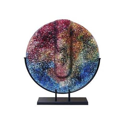 Round Vase Color: Red/Blue 8-60267