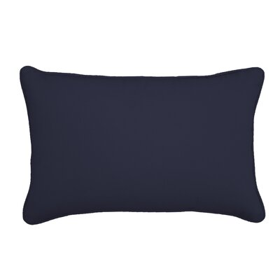 Outdoor Sunbrella Lumbar Pillow Color: Canvas Navy, Size: 13 H x 21 W