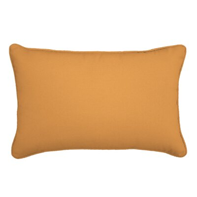 Outdoor Lumbar Pillow Size: 13 H x 21 W, Color: Flagship Mango