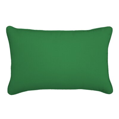 Outdoor Sunbrella Lumbar Pillow Color: Volt Emerald, Size: 12 H x 18 W