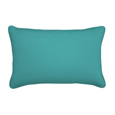 Outdoor Lumbar Pillow Color: Canvas Aruba, Size: 12 H x 18 W