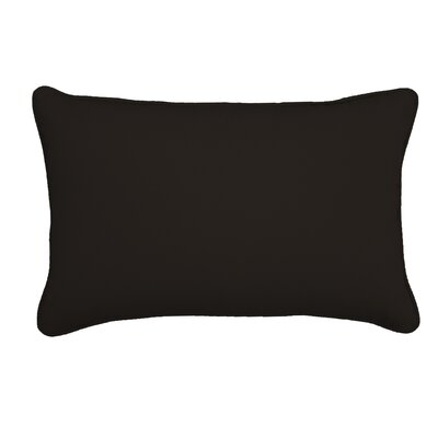 Outdoor Lumbar Pillow Color: Canvas Black, Size: 13 H x 21 W