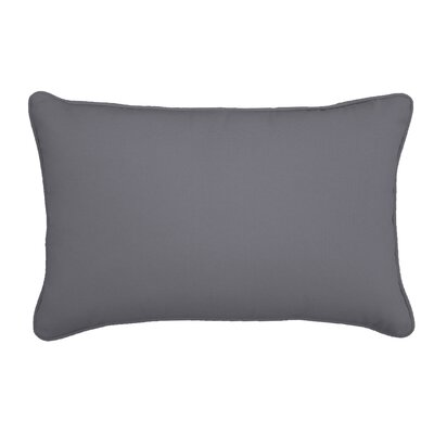 Outdoor Lumbar Pillow Color: Canvas Charcoal, Size: 12 H x 18 W
