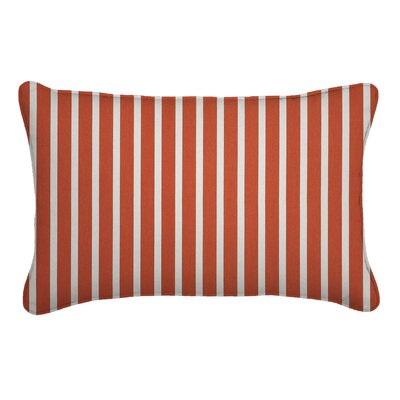 Outdoor Sunbrella Lumbar Pillow Fabric: Shore Flame, Width: 13, Depth: 21