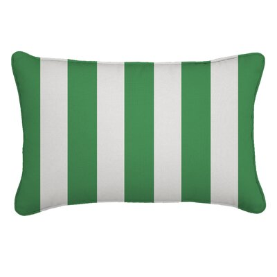 Outdoor Lumbar Pillow Fabric: Cabana Emerald, Width: 12, Depth: 18
