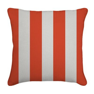 Outdoor Throw Pillow Color: Cabana Flame, Width: 16, Height: 16