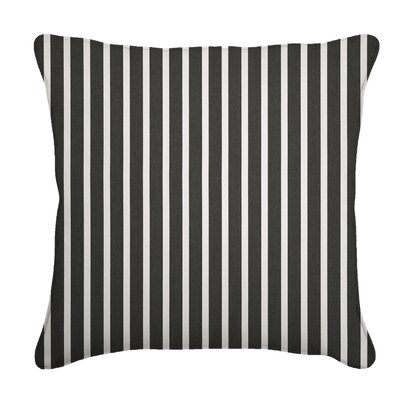 Outdoor Sunbrella Throw Pillow Fabric: Shore Classic, Width: 18, Depth: 18