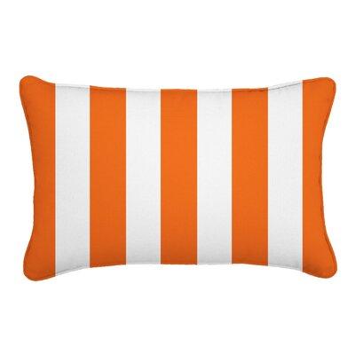Outdoor Lumbar Pillow Color: Finnigan Mandarin, Height: 12, Width: 18