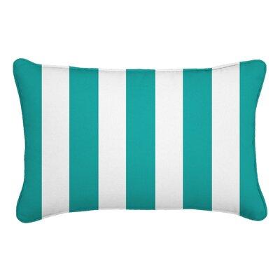 Outdoor Lumbar Pillow Color: Finnigan Peacock, Height: 13, Width: 21