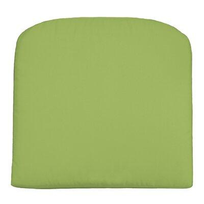 Wayfair Custom Outdoor Cushions Outdoor Knife-Edge Contour Chair Cushion - Color: Fresco Apple Green, Width: 21