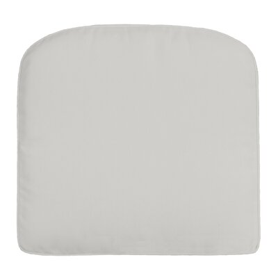 Double-Piped Outdoor Contour Dining Chair Cushion