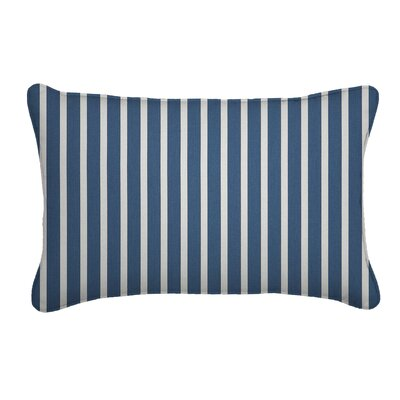 Outdoor Sunbrella Lumbar Pillow Fabric: Shore Regatta, Width: 12, Depth: 18