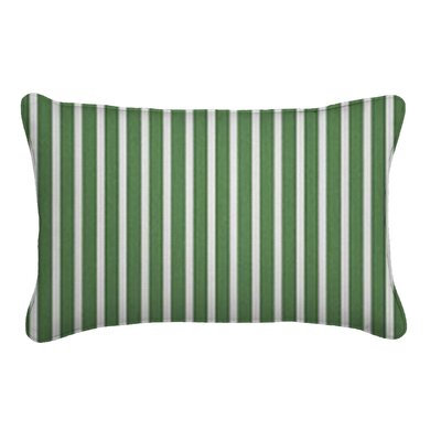 Outdoor Sunbrella Lumbar Pillow Width: 12, Depth: 18, Fabric: Shore Emerald