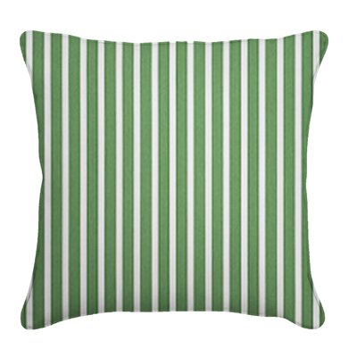 Outdoor Sunbrella Throw Pillow Fabric: Shore Emerald, Width: 18, Depth: 18