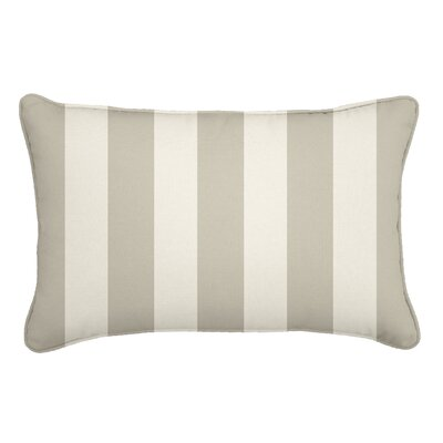 Outdoor Lumbar Pillow Fabric: Solana Seagull, Width: 12, Depth: 18