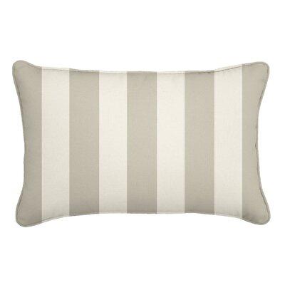 Outdoor Sunbrella Lumbar Pillow Fabric: Solana Seagull, Width: 12, Depth: 18