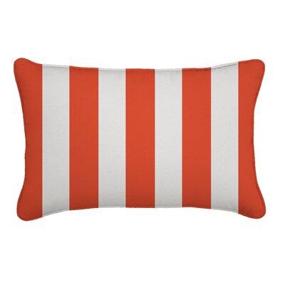 Outdoor Sunbrella Lumbar Pillow Width: 13, Depth: 21, Fabric: Cabana Flame