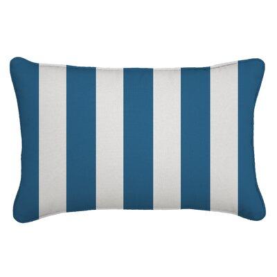 Outdoor Sunbrella Lumbar Pillow Width: 13, Depth: 21, Fabric: Cabana Regatta