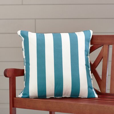 Outdoor Throw Pillow Color: Finnigan Peacock, Height: 16, Width: 16