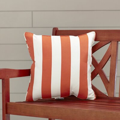 Outdoor Throw Pillow Color: Finnigan Mandarin, Height: 16, Width: 16
