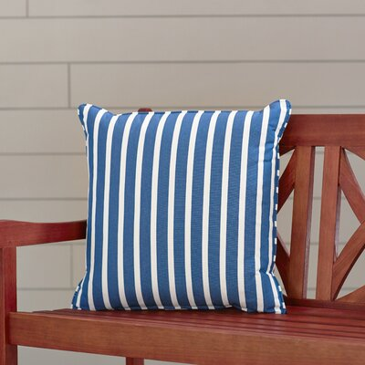 Outdoor Sunbrella Throw Pillow Fabric: Shore Regatta, Width: 18, Depth: 18