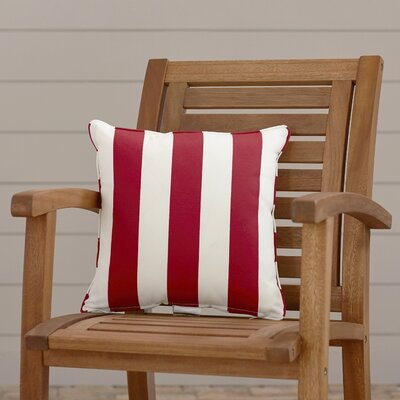 Outdoor Throw Pillow Color: Finnigan Cherry, Height: 22, Width: 22