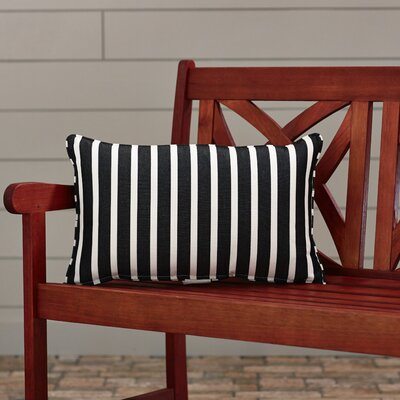Outdoor Sunbrella Lumbar Pillow Width: 12, Depth: 18, Fabric: Shore Classic